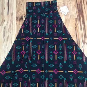 Lularoe Sz XS slinky Maxi Skirt NWT